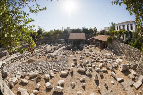 Carta da parati Mausoleum at Halicarnassus, Bodrum, Turkey