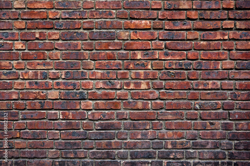 Foto op Aluminium Wand the old red brick wall