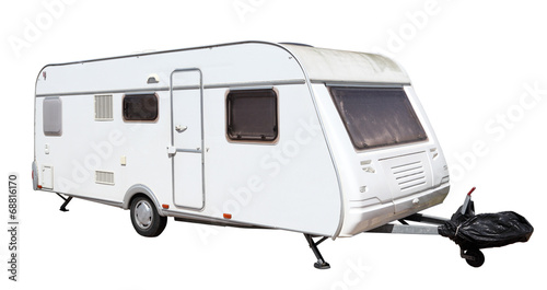 Fotografering  Caravan isolated over white background