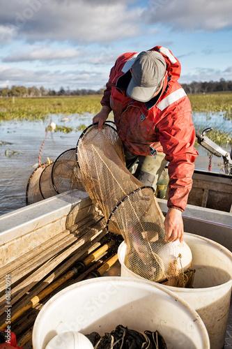 Canvas Prints Fishing Eel Fisherman