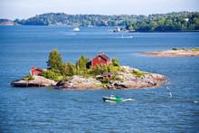 House On Island In Baltic Sea