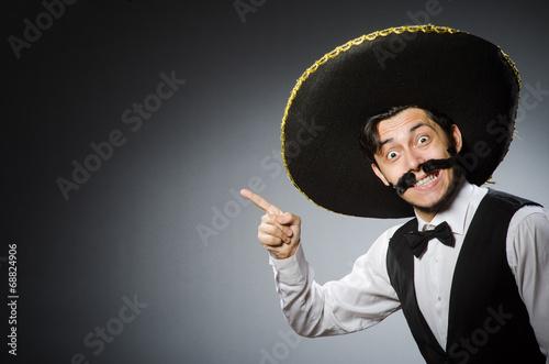 Fotografía  Mexican man in funny concept