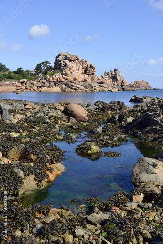 Fotografie, Obraz  Coastline of Ploumanac'h in France