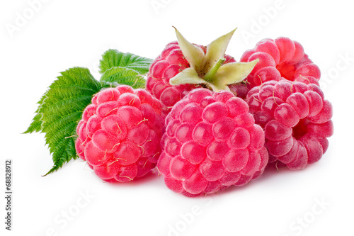 Poster  Fresh raspberries