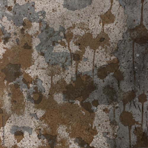 Foto auf AluDibond Alte schmutzig texturierte wand Grunge Stained Rusted Texture