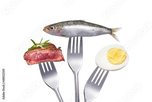 Eiweiß und proteinreiche Ernährung Canvas Print