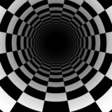 Fototapeta Do przedpokoju - Abstract chess tunnel background with perspective effect