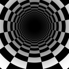 Abstract Chess Tunnel Background With Perspective Effect