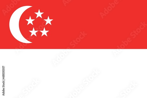 Illustration of the flag of Singapore Canvas Print