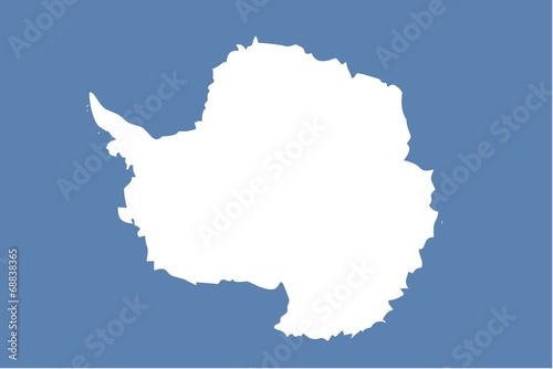 Illustration of the flag of Antartica Canvas Print