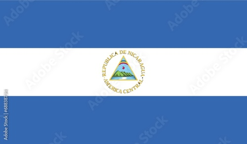 Illustration of the flag of Nicaragua Wallpaper Mural