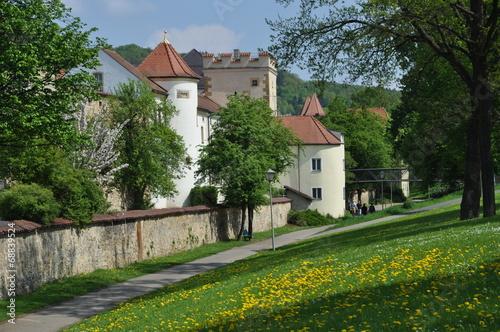 Stadtmauer am Basteisteg in Amberg Canvas Print