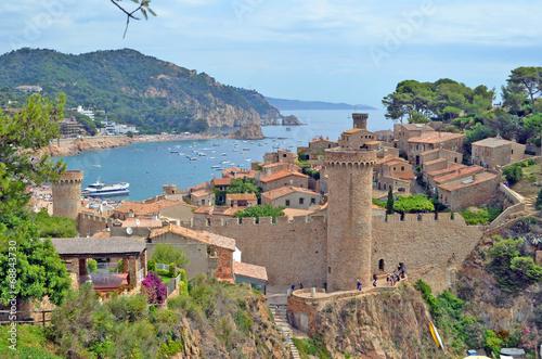 Vila Vella de Tossa de Mar. Costa Brava. Catalunya. España Fototapeta
