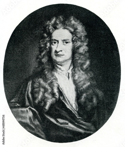 Fotografie, Obraz  Isaac Newton, English physicist and mathematician