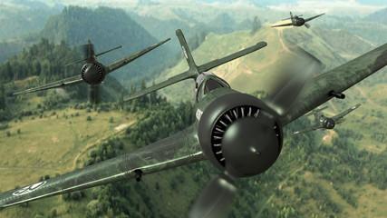 Fototapeta Militaria samoloty