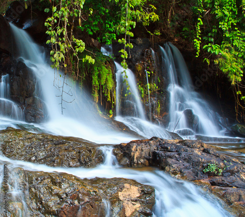 Foto op Canvas Pha Sue waterfall in Mae Hong Son province of Thailand