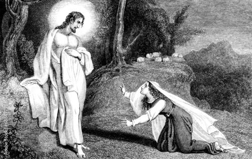 Fotografia Jesus Christ appearing to Mary Magdalene
