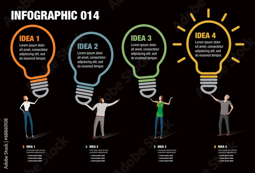 Photo  Light Bulb Infographic