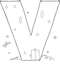 Outlined V Mars Base