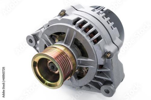 Photo automotive power generating alternator