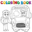 Coloring book school bus theme 4