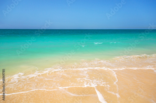 Fotografie, Obraz  Beach with turquoise water background