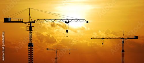 Fotografie, Obraz  Crane working construction for business industrial