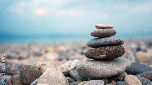 Obraz na płótnie Stones on the seashore
