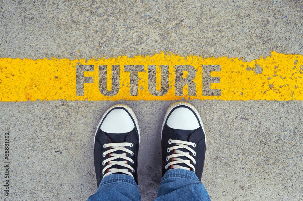 Fototapeta Step into the future.