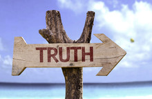 Truth Sign With A Beach On Background