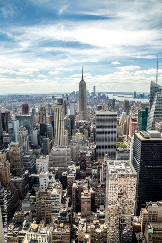 Foto op Aluminium New York New York City Manhattan midtown buildings skyline view