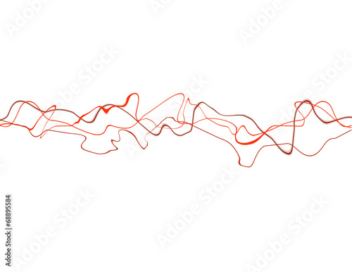 Photo  Abstract background of red squiggly lines against white