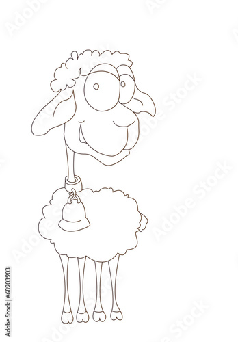 Poster  Funny aries, Illustration, vector