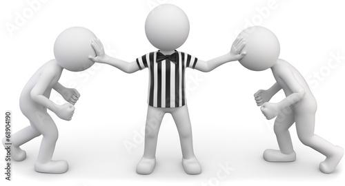 Photo Streitschlichter Schiedsrichter gestreift weiss