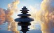 Steinturm vor Wolkenhimmel