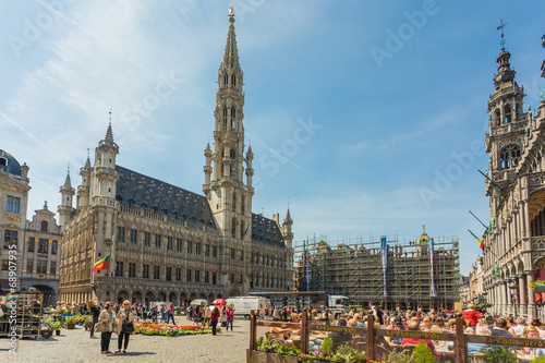 Tuinposter Brussel Grand Place in Brussels, Belgium