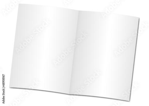Fotografía  Broschüre offen leer
