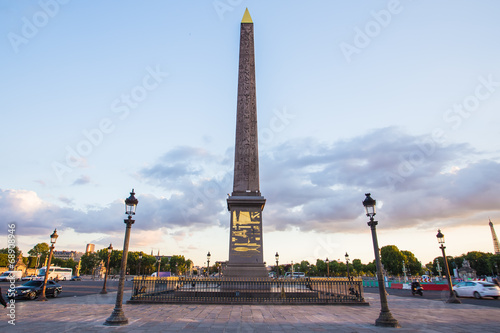 Fototapeta Obelisk of Luxor at Night, Paris, France