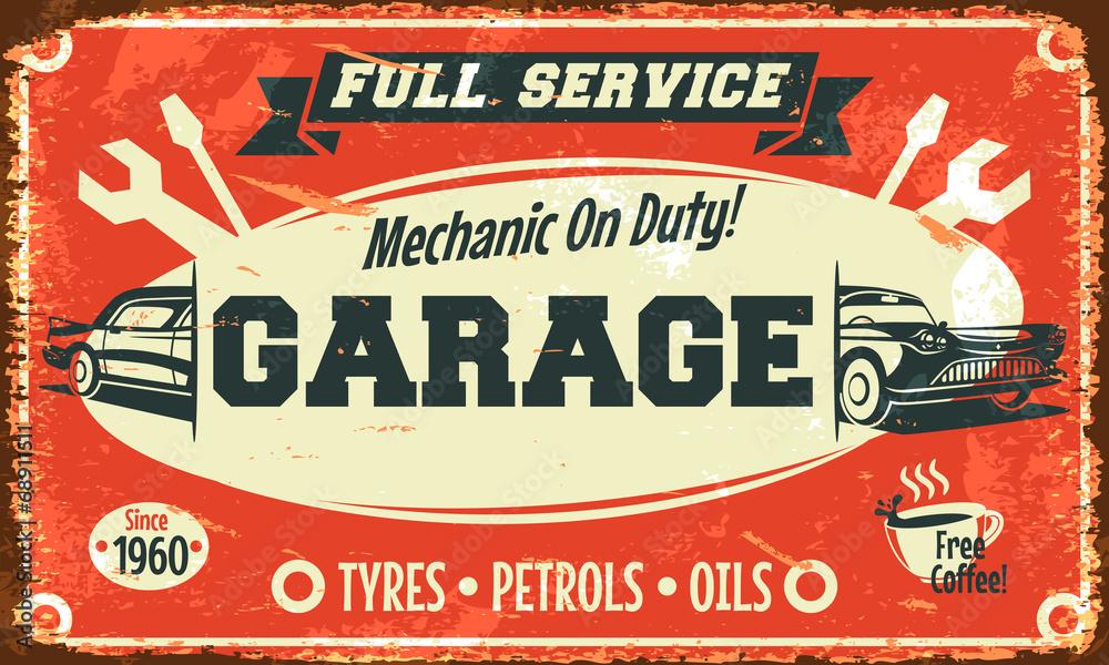 Znak retro samochodów. Ilustracji wektorowych. <span>plik: #68911511 | autor: laralova</span>