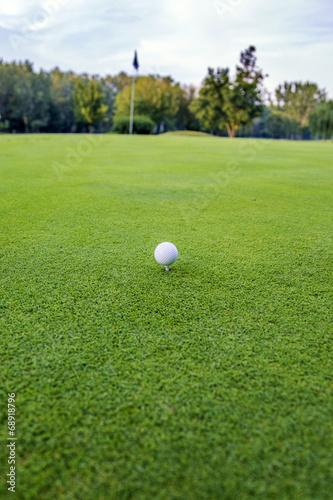 Deurstickers Golf Golf ball