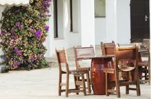 Rustic Terrace On A Mediterranean Island