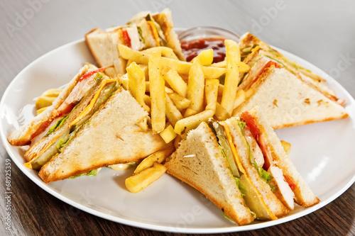 Fotografie, Obraz  Clubhouse sandwich