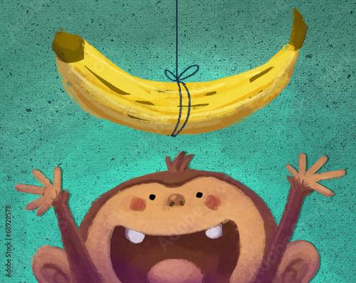 Fotografia  mono y plátano