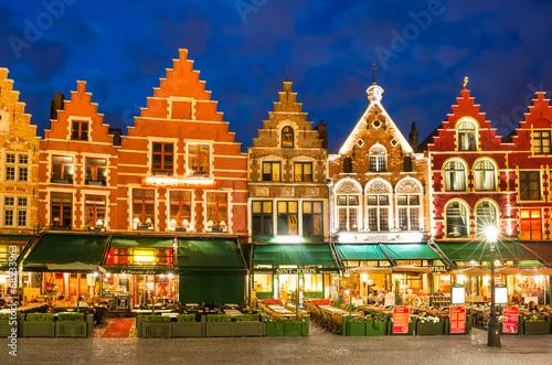 In de dag Brugge Grote Markt, Bruges, Belgium
