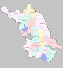 Map Of Jiangsu Province China