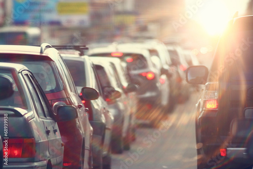Photo traffic jams in the city, road, rush hour