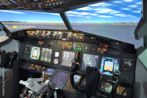 Fotografia  B737 Flight simulator