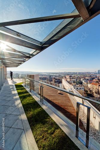 Photo sur Toile Stade de football Modern building terrace