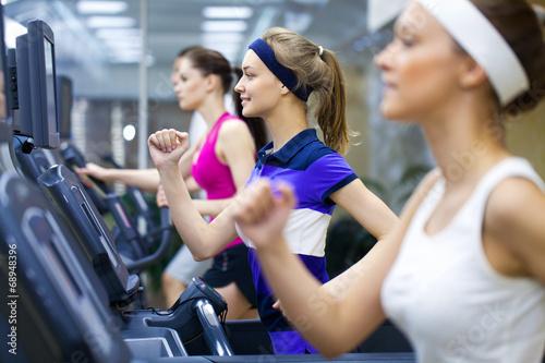 Foto op Plexiglas Fitness running in gym