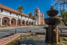 The Historic Santa Barbara Spanish Mission In California